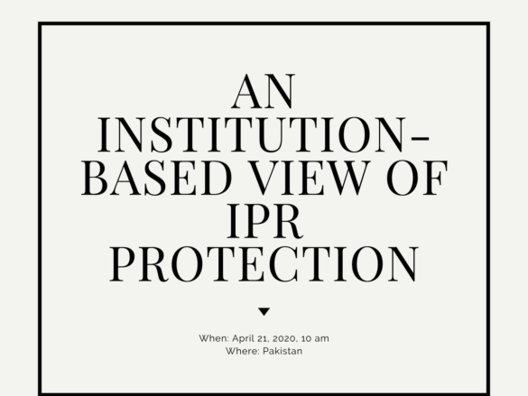 An Institution-Based View of IPR Protection
