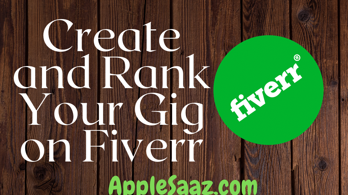 How to create and rank a gig on Fiverr
