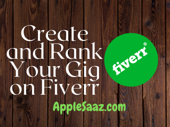 How to create and Rank Your Gig on Fiverr