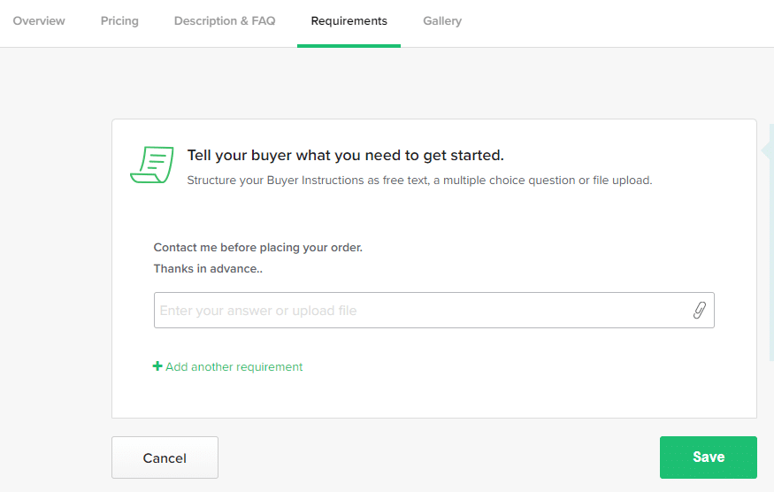 FAQs to create a gig on fiverr